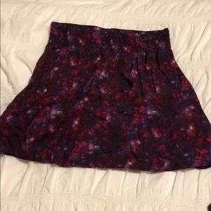High waisted rayon skirt